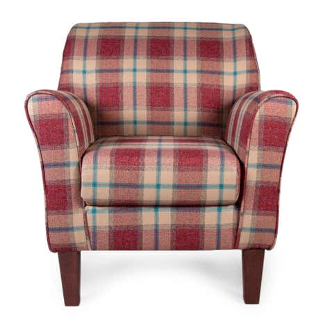 Marlow Check Berry Lucielle Chair