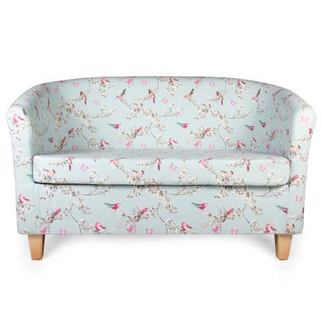 Beautiful Birds Two Seater Tub Chair