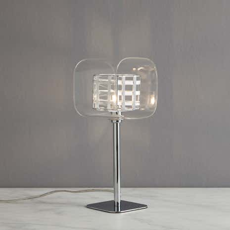 Adam Wired Cube 1 Light Table Lamp