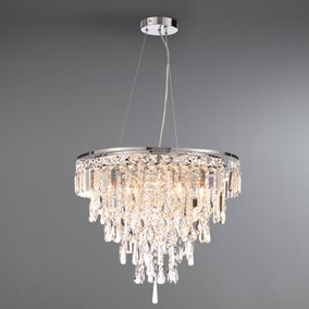 Marquis by Waterford Bresna Chrome 6 Light Pendant