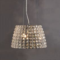 Marquis by Waterford Moy Large Chrome Pendant