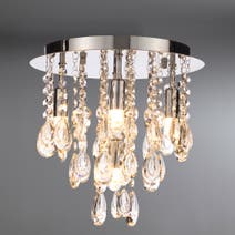 Marquis by Waterford Liffey Chrome 5 Light Flush Ceiling Fitting