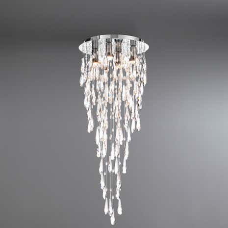 Marquis by Waterford Deel Chrome 4 Light Flush Ceiling Fitting