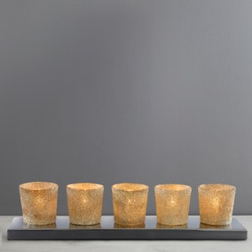 India Gold 5 Light Tea Light Bar