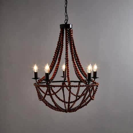 Bayan 5 Light Beaded Chandelier