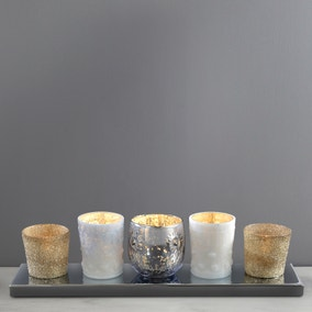 India 5 Light Mixed Tea Light Bar