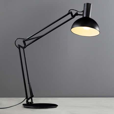 Arki Black Table Clamp Wall Lamp
