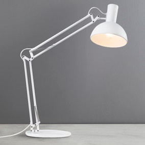 Arki White Table Clamp Wall Lamp