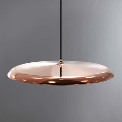 Artist Large Copper LED Pendant Light Fitting