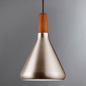 Float Small Brushed Steel Ceiling Pendant