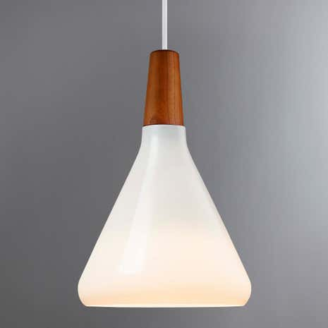 Float Small Glass White Ceiling Pendant