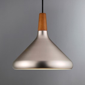 Float Medium Brushed Steel Ceiling Pendant