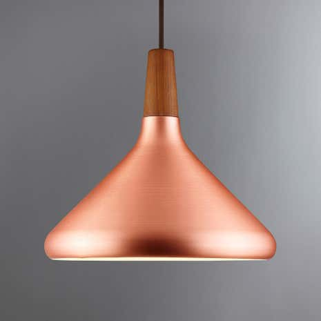 Float Medium Copper Ceiling Pendant Dunelm