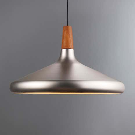 Float Large Brushed Steel Ceiling Pendant