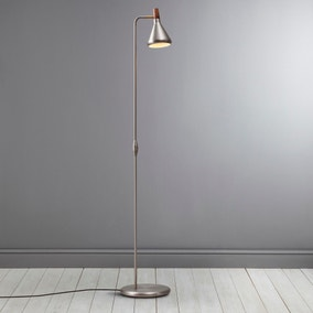 Float Brushed Steel Floor Lamp