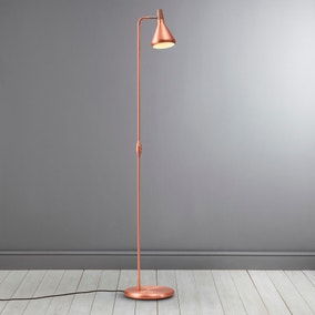 Float Copper Floor Lamp