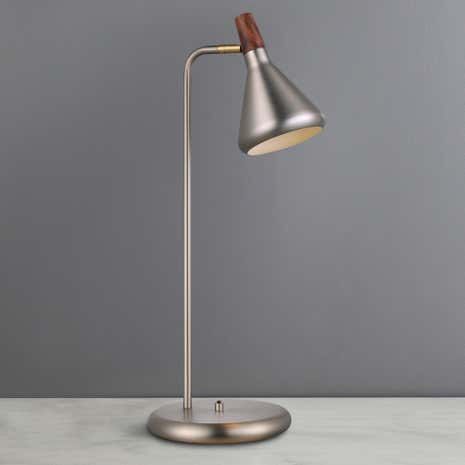 Float Brushed Steel Table Lamp