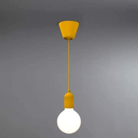 Funk Suspension Yellow Light Fitting