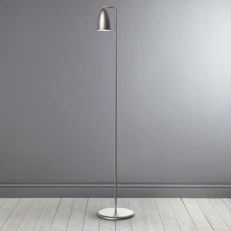 Nexus Brushed Steel Floor Lamp
