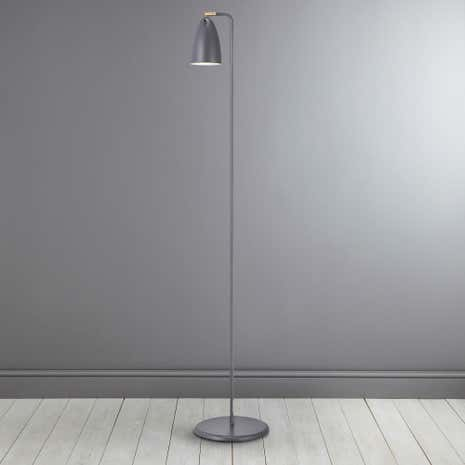 Nexus Grey Floor Lamp