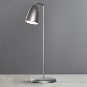 Nexus Brushed Steel Table Lamp