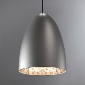 Nexus Large Brushed Steel Ceiling Pendant