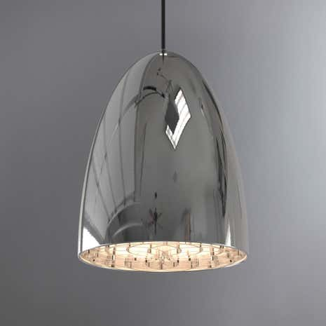 Nexus Large Chrome Ceiling Pendant