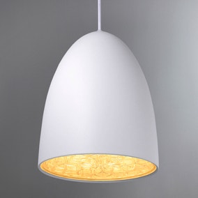 Nexus Large White Ceiling Pendant