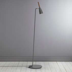 Pure Grey Walnut Floor Lamp