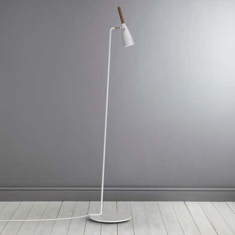 Pure White Walnut Floor Lamp