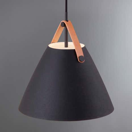 Strap Small Black Pendant Light Fitting