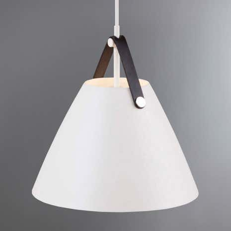 Strap Small White Pendant Light Fitting