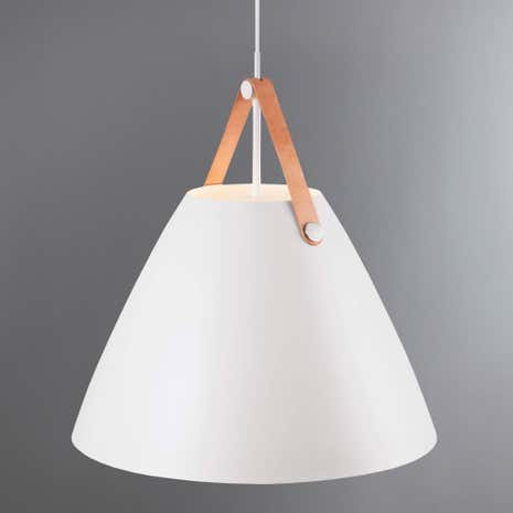 Strap Large White Pendant Light Fitting