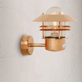 Nordlux Blokhus Copper Outdoor Sensor Wall Light