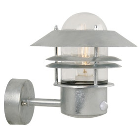 Nordlux Blokhus Galvanised Steel Outdoor Sensor Wall Light