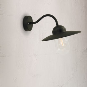 Luxembourg Black Outdoor Wall Light