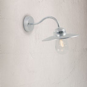Luxembourg Galvanised Outdoor Wall Light