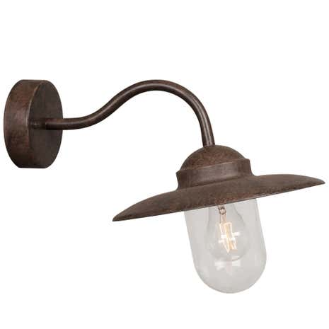 Luxembourg Rust Outdoor Wall Light