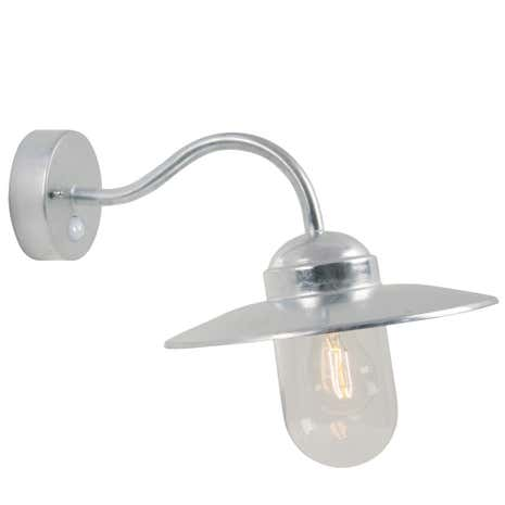 Luxembourg Galvanised Outdoor Wall Light with Sensor