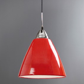 Read Large Red Ceiling Pendant