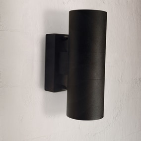 Nordlux Tin Black Double Wall Light
