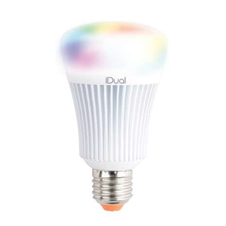 iDual 60 Watt Edison Screw LED Bulb Pack of 2 with Remote Control