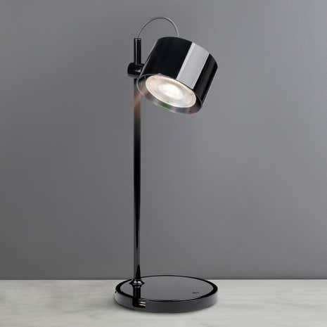 iDual Jasmine Black Table Lamp with Remote Control