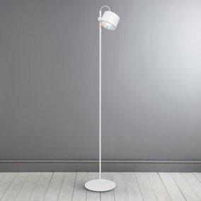 iDual Jasmine White Floor Lamp with Remote Control