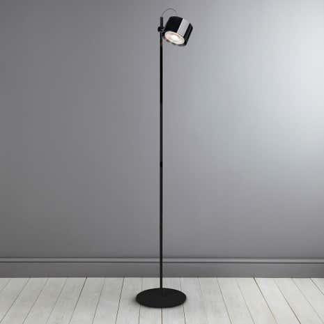 IDual Jasmine Black Floor Lamp With Remote Control