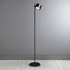 iDual Jasmine Black Floor Lamp with Remote Control