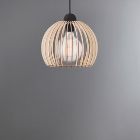 Chino Slatted Wood Pendant