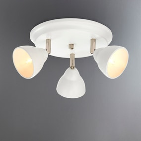 Moraya Matt White 3 Light Spotlight