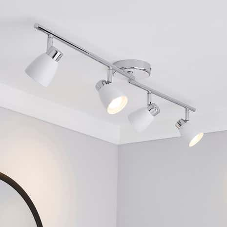 Alto Matt White 4 Light Spotlight Bar