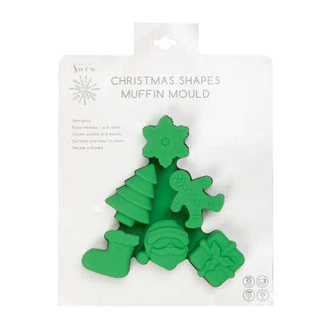 Silicone 6 Christmas Muffin Moulds